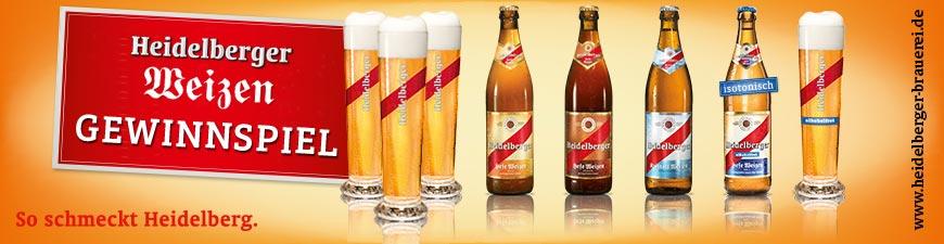 Heidelberger Weizenbiere Gewinnspiel